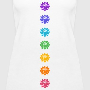 Lotus Chakras, Cosmic Energy Centers, Evolution    - Women's Premium Tank Top