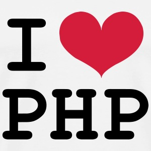 I Love PHP [Developer / Geek] T-Shirts - Männer Premium T-Shirt