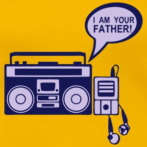 i_am_your_father K7 mp3-Radio-Player 0 T-Shirts - Frauen Premium T-Shirt