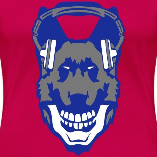 chien dog casque musique audio gueule