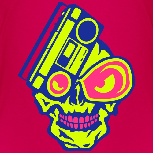 tete mort radio cassette k7 skull dj