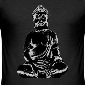 buddha svart T-shirts - Slim Fit T-shirt herr