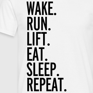 Run, Sleep, Repeat  Camisetas - Camiseta hombre