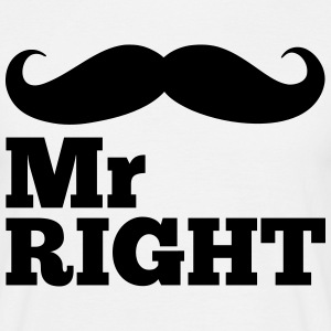 Mr Right  T-Shirts - Männer T-Shirt