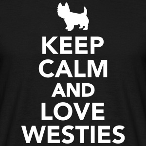 Keep calm and love Westies T-Shirts - Männer T-Shirt