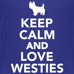 Keep calm and love Westies T-Shirts - Kinder Premium T-Shirt