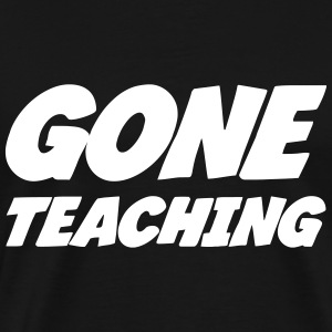 Gone Teaching T-shirts - Herre premium T-shirt