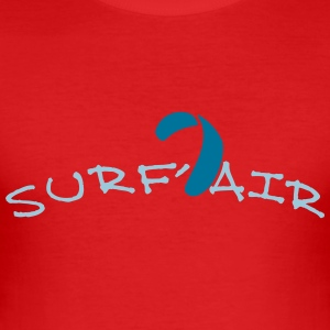 kite surf air_vec_2 en - Men's Slim Fit T-Shirt