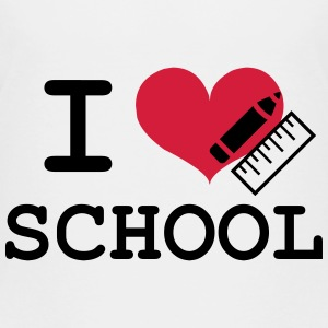 I Love School Skjorter - Premium T-skjorte for barn