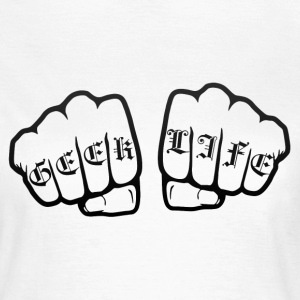 Geek life fists - Frauen T-Shirt