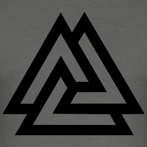 Valknut, Odins Knot, 9 Worlds of Yggdrasil T-Shirt - Men's Slim Fit T-Shirt