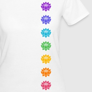 Lotus Chakras, Cosmic Energy Centers, Evolution    - Frauen Bio-T-Shirt