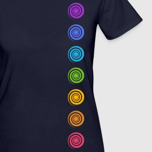 Spiral Chakras, Cosmic Energy Centers, Meditation Tee shirts - T-shirt Bio Femme