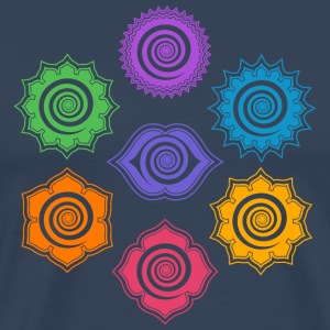 7 Chakras, Evolution, meditation, enlightenment T-Shirts - Men's Premium T-Shirt