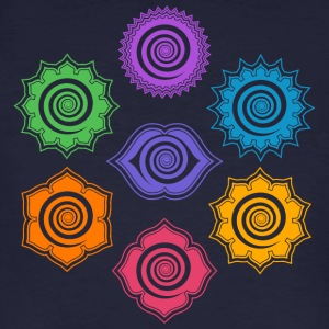 7 Chakras, Evolution, meditation, enlightenment Tee shirts - T-shirt bio Homme