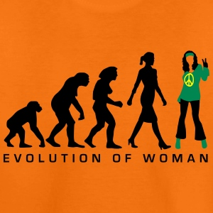 evolution_of_woman_hippie_112014_a_3c T-Shirts - Teenager Premium T-Shirt