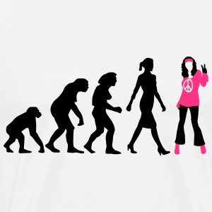 evolution_of_woman_hippie_112014_b_2c T-Shirts - Männer Premium T-Shirt