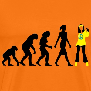 evolution_of_woman_hippie_112014_b_3c T-Shirts - Männer Premium T-Shirt