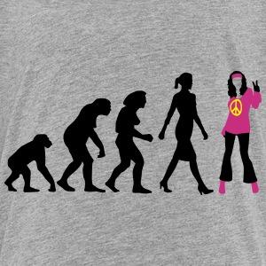 evolution_of_woman_hippie_112014_b_3c T-Shirts - Teenager Premium T-Shirt