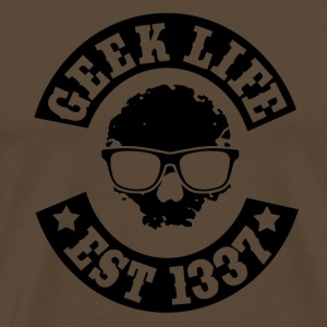 Geek life skull - Men's Premium T-Shirt