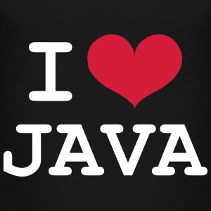 I Love Java [Developer / Geek] T-shirts - Premium-T-shirt tonåring