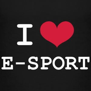 I Love E-Sport Shirts - Teenage Premium T-Shirt