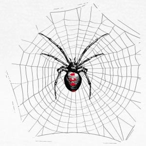 Black widow spider and web T-Shirts - Women's T-Shirt
