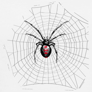 Black widow spider and web T-Shirts - Men's Premium T-Shirt