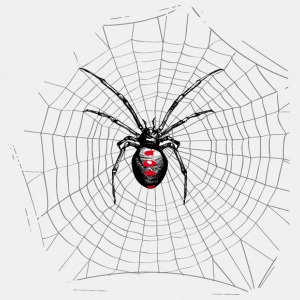 Black widow spider and web Shirts - Teenage Premium T-Shirt