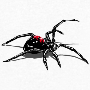 WIdow spider attacking T-Shirts - Men's V-Neck T-Shirt