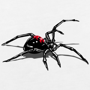 WIdow spider attacking T-Shirts - Women's V-Neck T-Shirt