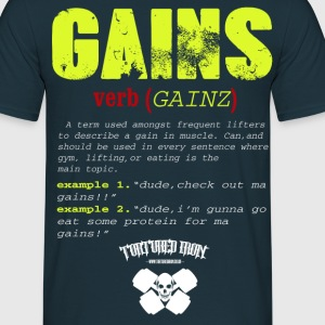 new gains copy.png T-Shirts - Men's T-Shirt