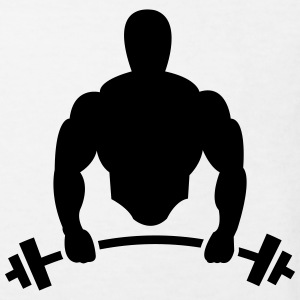 Body builder with barbell Shirts - Kids' Organic T-shirt