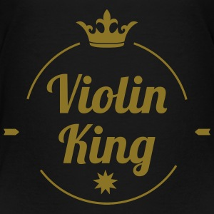 Violin King Skjorter - Premium T-skjorte for barn