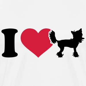 I love Chinese Crested T-Shirts - Männer Premium T-Shirt