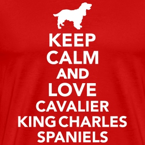 Keep calm and love Cavalier King Charles Spaniel T-Shirts - Männer Premium T-Shirt
