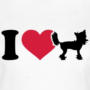 I love Chinese Crested T-Shirts - Frauen T-Shirt