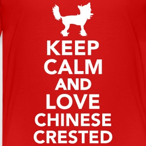 Keep calm and love Chinese Crested T-Shirts - Kinder Premium T-Shirt
