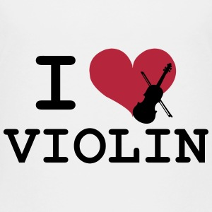 I Love Violin Skjorter - Premium T-skjorte for barn