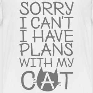 Sorry I Can't I Have Plans With My Cat Shirts - Kids' Premium T-Shirt