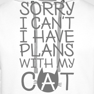 Sorry I Can't I Have Plans With My Cat Hoodies & Sweatshirts - Men's Premium Hoodie