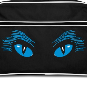 Cat eyes blue Bags & Backpacks - Retro Bag