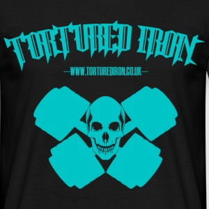 checekerd skull light blue.png T-Shirts - Men's T-Shirt