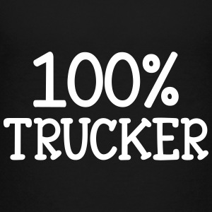 100% Trucker  T-shirts - Teenager premium T-shirt