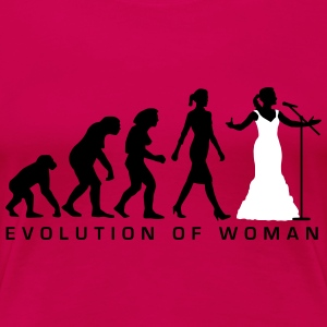 evolution_female_opera_singer_112014_a_2 T-Shirts - Frauen Premium T-Shirt