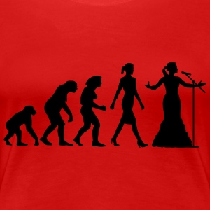 evolution_female_opera_singer_112014_b_1 T-Shirts - Frauen Premium T-Shirt
