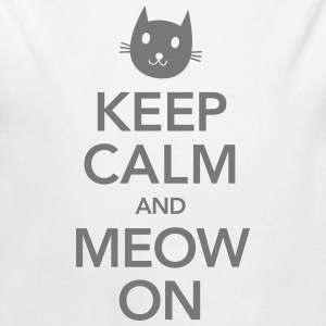 Keep Calm And Meow On Sweats - Body bébé bio manches longues