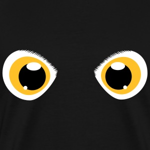 glowing eyes of a snowy owl T-Shirts - Men's Premium T-Shirt
