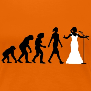 evolution_female_opera_singer_112014_b_2 T-Shirts - Frauen Premium T-Shirt