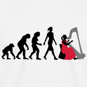 evolution_female_harp_player_112014_a_3c T-Shirts - Männer Premium T-Shirt